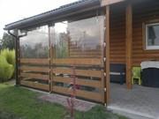 Дачные шторы,  защитные шторы для беседки,  шторы для веранды пвх.